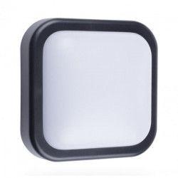 SMARTWARES Applique extérieure Led 10W carrée en plastique GOL-002-HB - Noir