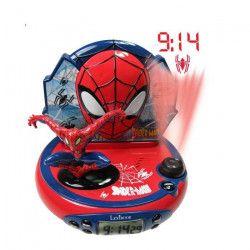 LEXIBOOK - SPIDERMAN - Radio Réveil Enfant avec Projections d`Images