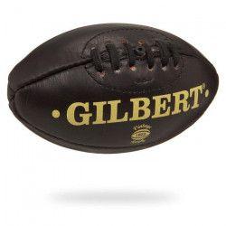 GILBERT Ballon de Rugby Mini Ballon Vintage Cuir Dark RGB