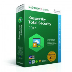 Kaspersky Total Security 2017 - 2 postes / 1 an