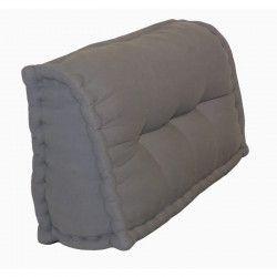 Dossier Cale-Reins 100% coton 60x22/11xH35 cm GRIS FONCE