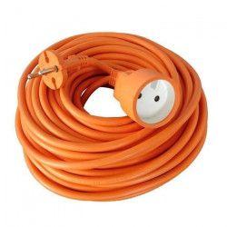 Rallonge électrique de jardin câble HO5VVF 2 x 1.5 mm2 orange 25m