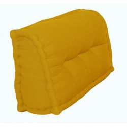 Dossier Cale-Reins 100% coton 60x22/11xH35 cm MOUTARDE