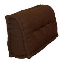 Dossier Cale-Reins 100% coton 60x22/11xH35 cm CHOCOLAT