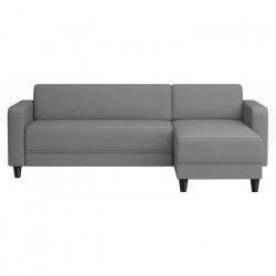 FINLANDEK Canapé d`angle réversible KULMA 3 places - Tissu gris - Contemporain - L 205 x P 141 cm