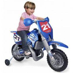 FEBER - Moto X Cross avec Casque - Véhicule Electrique pour Enfant 6 Volts