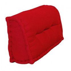 Dossier Cale-Reins 100% coton 60x22/11xH35 cm ROUGE