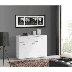 DIXI Buffet bas contemporain blanc - L 90 cm