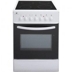 CONTINENTAL EDISON CVMC6060W - Cuisiniere table vitrocéramique-4 foyers- 1700W-Four électrique-