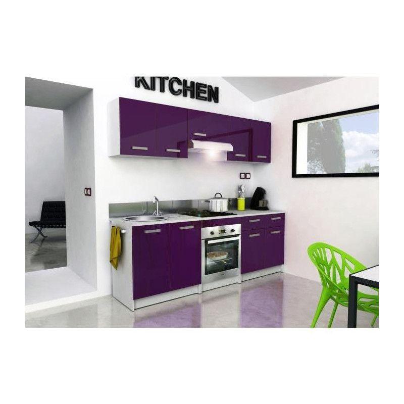 start meuble haut de cuisine l 80 cm aubergine. Black Bedroom Furniture Sets. Home Design Ideas