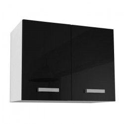 START Meuble haut de cuisine - L 80 cm - Noir Brillant
