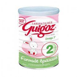 GUIGOZ Lait en poudre 2eme âge - Formule Epaissie - 820 g - De 6 a 12 mois
