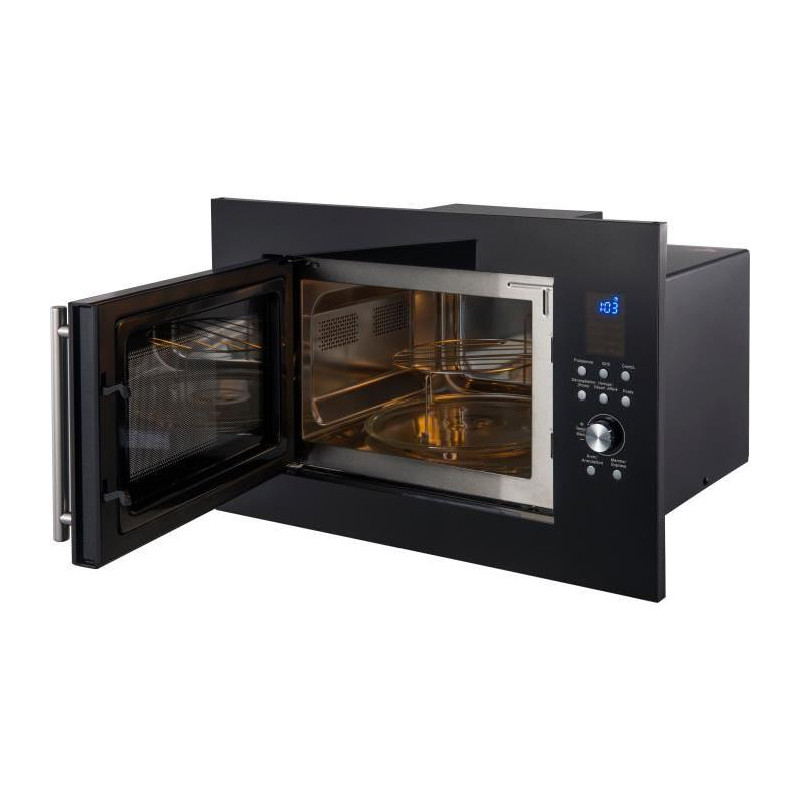 Continental edison cemo25geb micro ondes gril noir - Micro onde grill encastrable ...