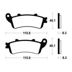 BENDIX Plaquettes de frein moto MF235 - Métal fritté