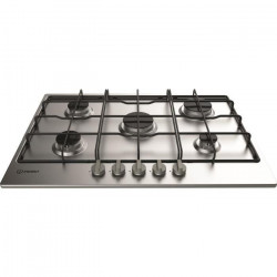 INDESIT THA 752 IX/I - Table de cuisson gaz - 5 foyers - 10,5 kW - L 73 x P 51 cm - Revetement inox