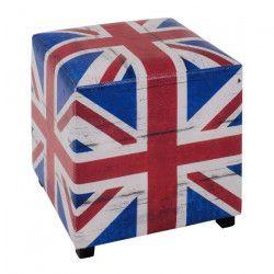 Pouf Royaume Uni carré 40 cm