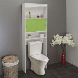 GALET Meuble WC ou machine a laver L 64 cm - Vert pomme