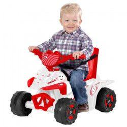 Quad électrique enfant premier âge blanc et rouge