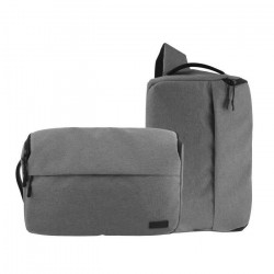 T`nB DC2IN1GR URBAN Sac photo 2 en 1 - Compatible Reflex, Bridge, Hybride - Gris