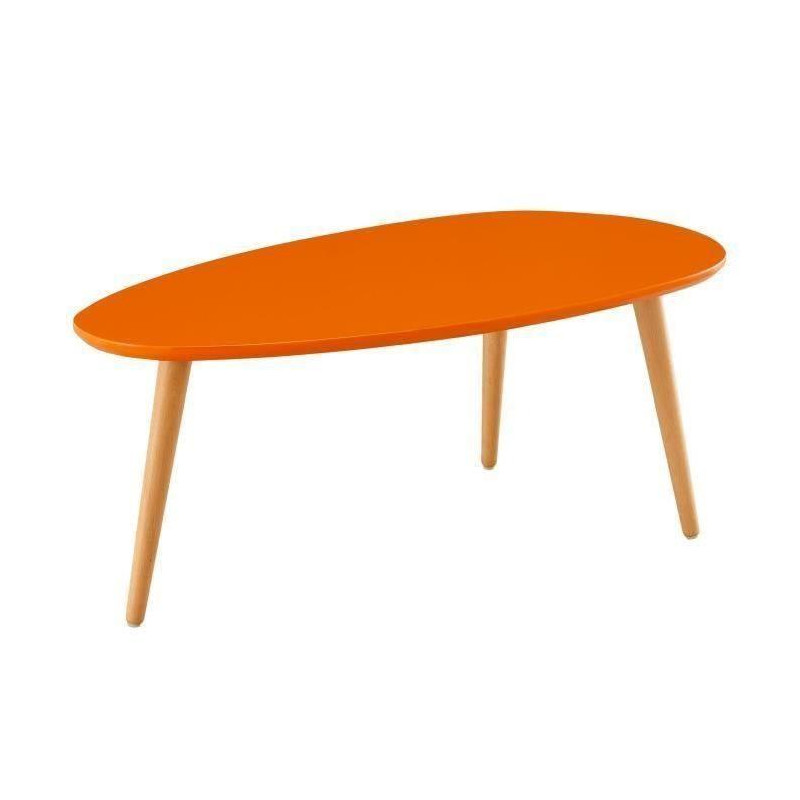 stone table basse ovale scandinave orange laqu l 88. Black Bedroom Furniture Sets. Home Design Ideas