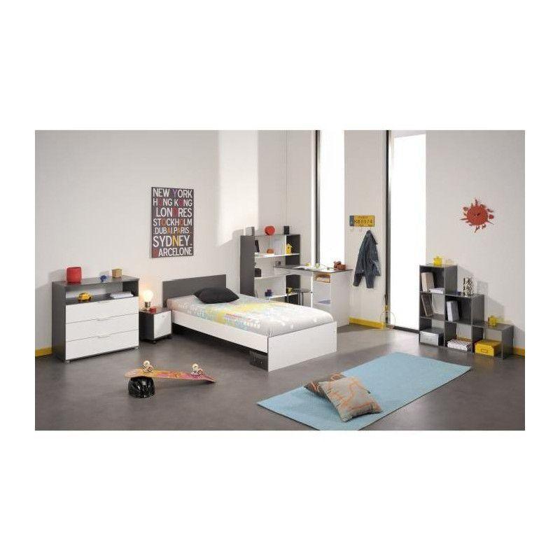 stanley bureau d angle contemporain blanc et gris. Black Bedroom Furniture Sets. Home Design Ideas
