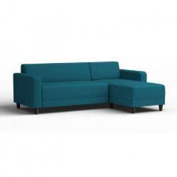 FINLANDEK Canapé d`angle réversible KULMA 3 places - Tissu bleu turquoise - Contemporain - L 205 x P 141 cm