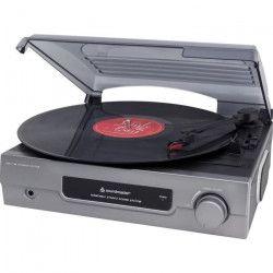 SOUNDMASTER PL200 Lecteur de disque + Disque vinyle chansons Noël - Gris