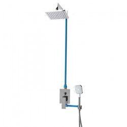 SARODIS Colonne de douche avec robinet mitigeur mécanique Forli - Douchette 20 x 20 cm