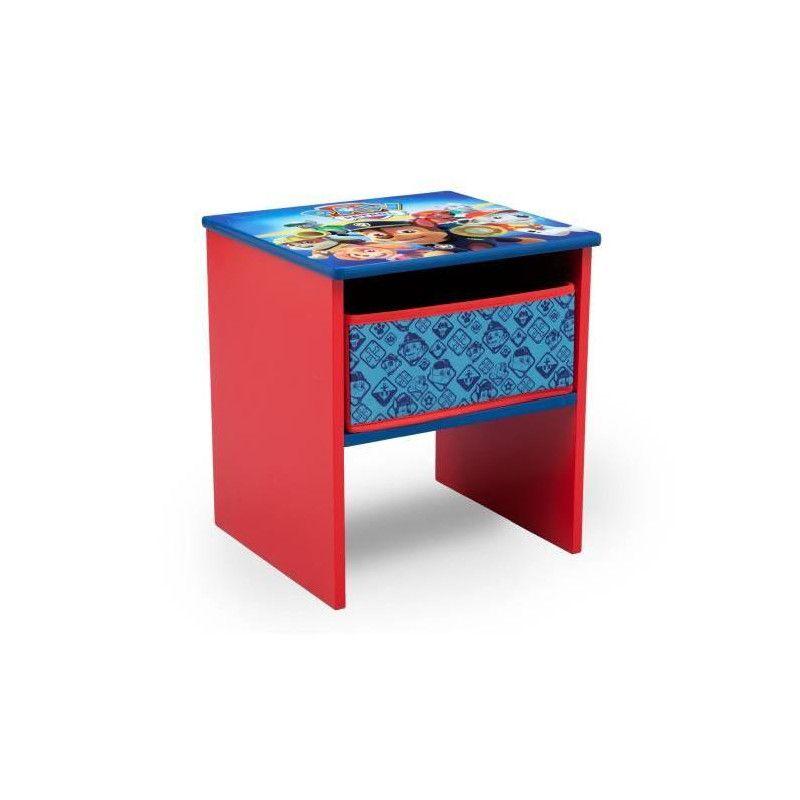 pat patrouille table de chevet enfant en bois avec. Black Bedroom Furniture Sets. Home Design Ideas