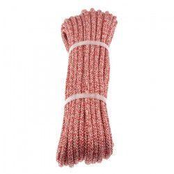 POLYROPES Cordage Polyester Proline Blanc-Rouge 10mm 30m
