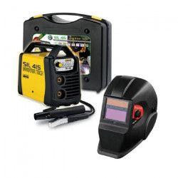 DECA Poste a souder Inverter 150 A SIL 415 avec cagoule LCD DIN11 et 20 électrodes