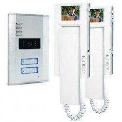 SMARTWARES Kit de 2 interphones vidéo VD62 4 fils 2,4`