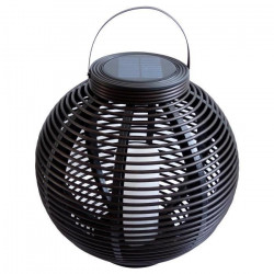 MUNDUS Lanterne tressée en plastique Ø42 x H40,5 cm - Noir