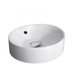 MITOLA Vasque ronde Palma 38 cm de diametre blanc brillant