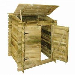 Coffre de filtration en bois pour piscine