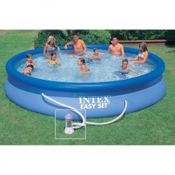 INTEX Kit piscine ronde autoportée Easy Set - 457,2 x 83,82 cm