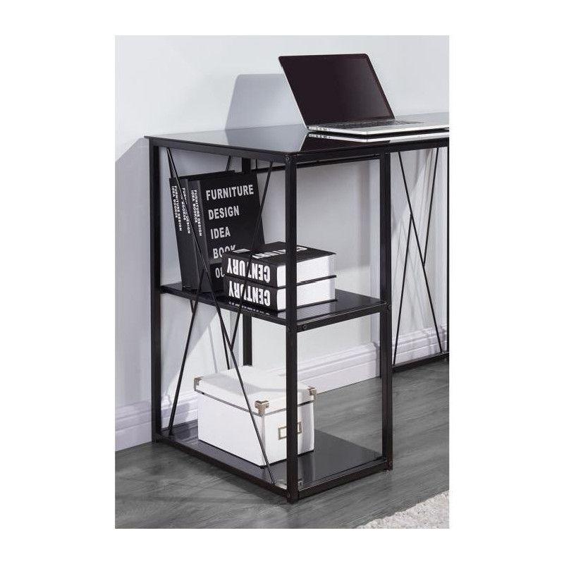 trigo bureau contemporain en m tal et verre tremp. Black Bedroom Furniture Sets. Home Design Ideas