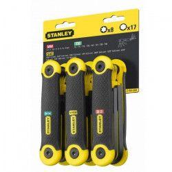 STANLEY 3 jeux de 25 clés pliables - 1,5 a 8mm