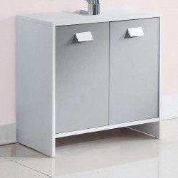 TOP Meuble sous-vasque L 60 cm - Blanc et gris mat