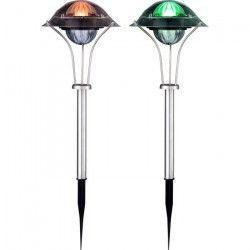 Globo Lighting Lot de 2 Lampes solaires inox - Plastique translucide - IP44