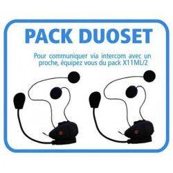 BEEPER Lot de 2 Kits Mains Libres Bluetooth Intercom Moto - Noir