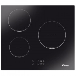 CANDY CTI300 - Table de cuisson induction - 3 zones - 5300W - L59 x P 52cm - Revetement verre - Noir