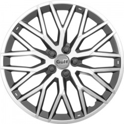 GULF GT40 4 Enjoliveurs 14 Pouces Facing Argent et Arriere Noir