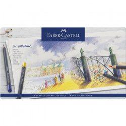 FABER-CASTELL Boîte de 36 Crayons de couleur Goldfaber permanent