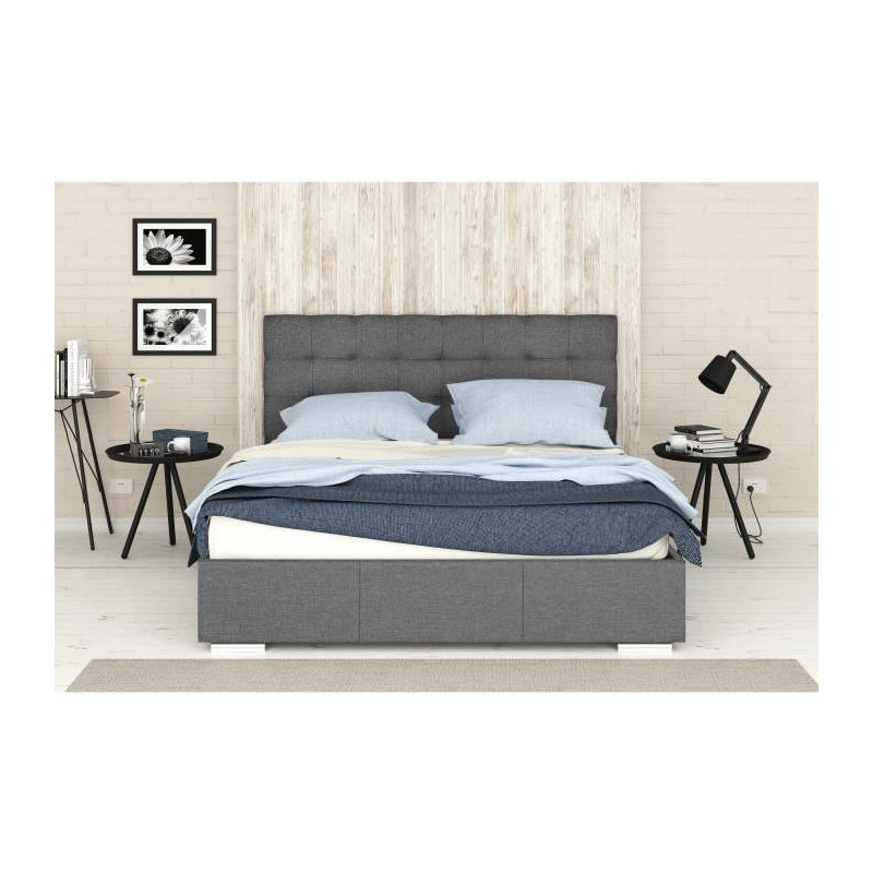 finlandek lit coffre adulte orvo avec sommier. Black Bedroom Furniture Sets. Home Design Ideas