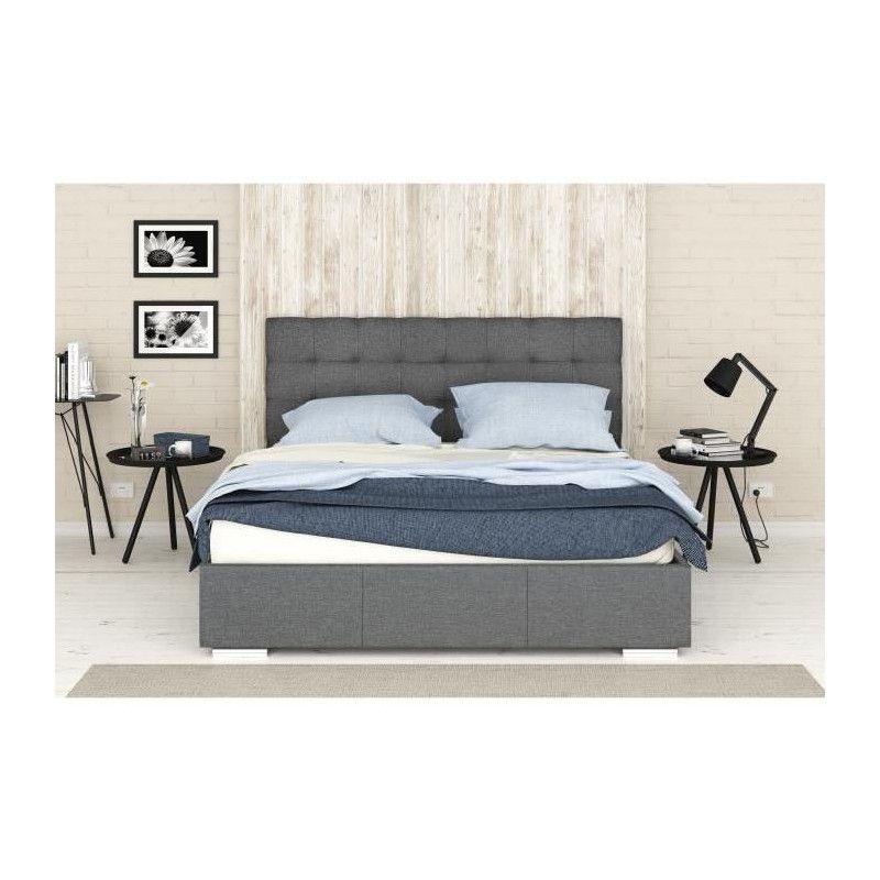 finlandek lit coffre adulte orvo avec sommier. Black Bedroom Furniture Sets. Home Design Ideas