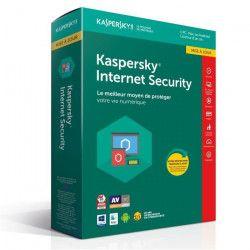 KASPERSKY Internet Security 2018 - 1 Poste / 1 An Mise a jour