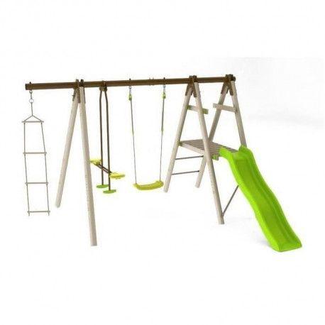 balancoire portique en bois h trigano oreka 3. Black Bedroom Furniture Sets. Home Design Ideas