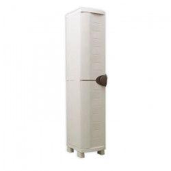 SPACESAVER 35 PLASTIKEN Armoire haute 1 Porte avec étageres - l 35 x p 45 x h 184 cm - Gamme Space SAVER -