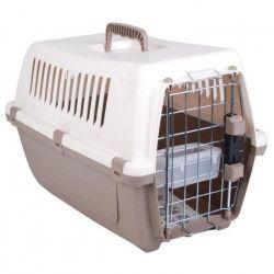 VISION Panier de transport 47,5x30x33 cm - Beige et taupe - Pour chien